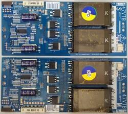 LG - 6632L-0486B MASTER , 6632L-0487B SLAVE , PPW-CC47VT-S (B) REV1.0 , LC470WUN SA B1 , Inverter Board