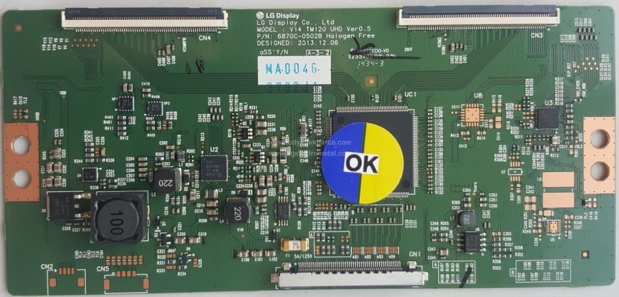 6870C-0502B , V14 TM120 UHD VER0.5 , LC490EQE XG F1 , Logic Board , T-con Board