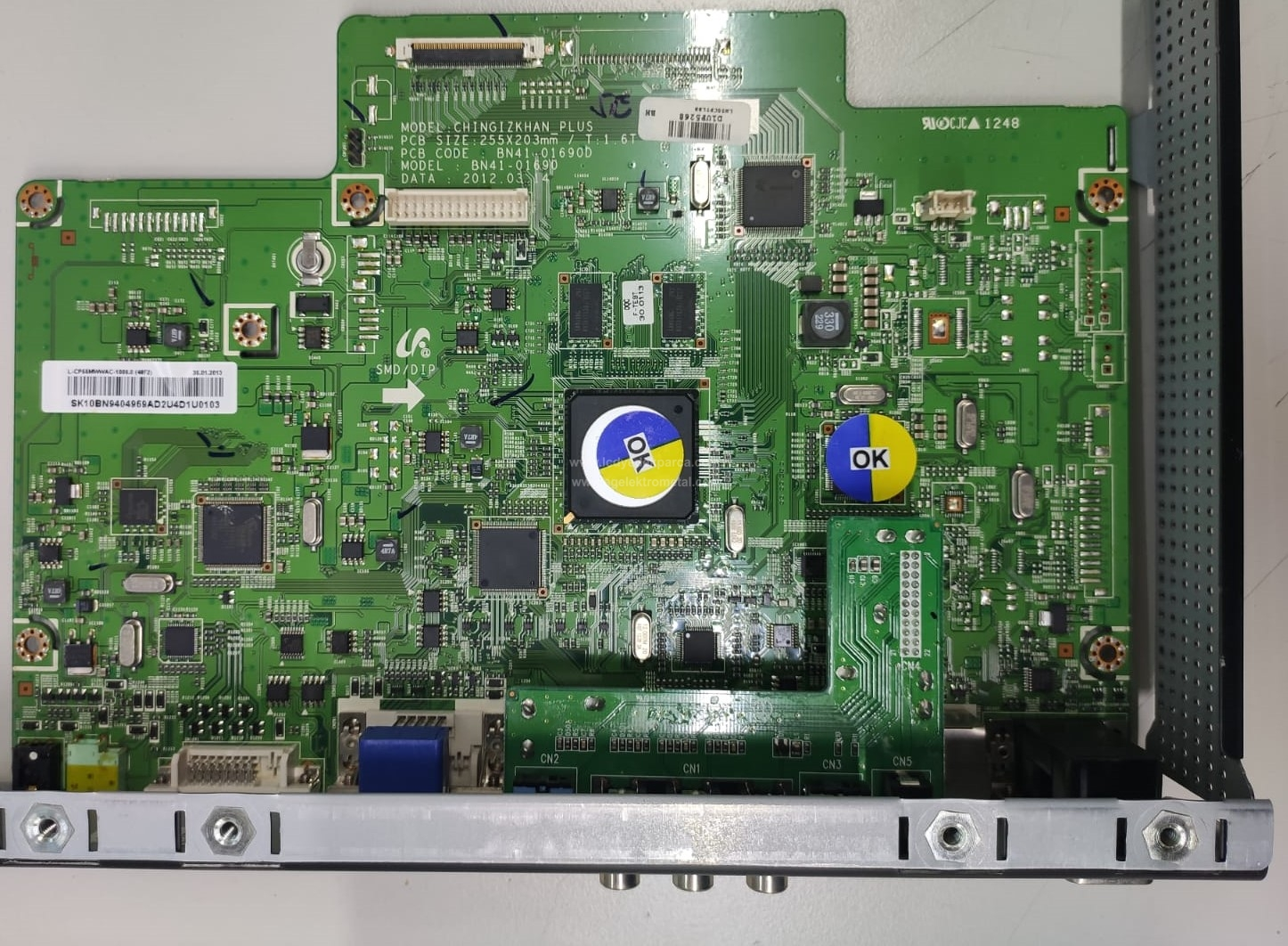 BN94-04969A , BN41-01690D , SAMSUNG , LTI550HN01 , LH55CPPLBB , Main Board , Ana Kart